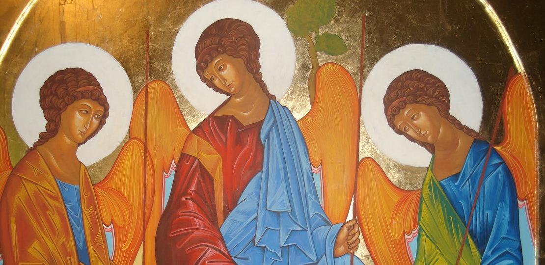 Написание иконы «Троица» — Андрей Рублев